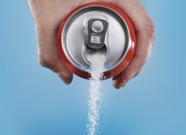 Sugar Pouring From Soda Can