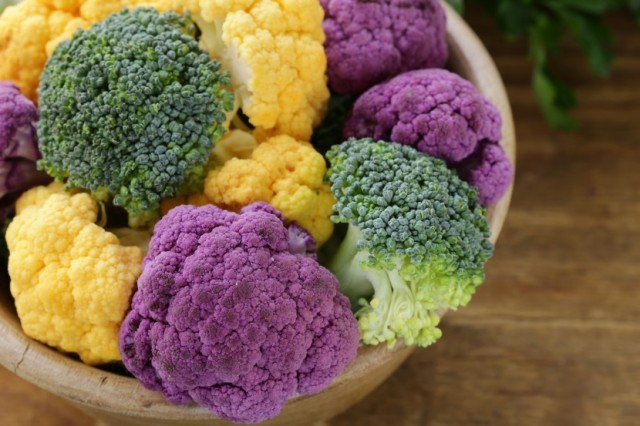 Brocolli and Colorful Cauliflower