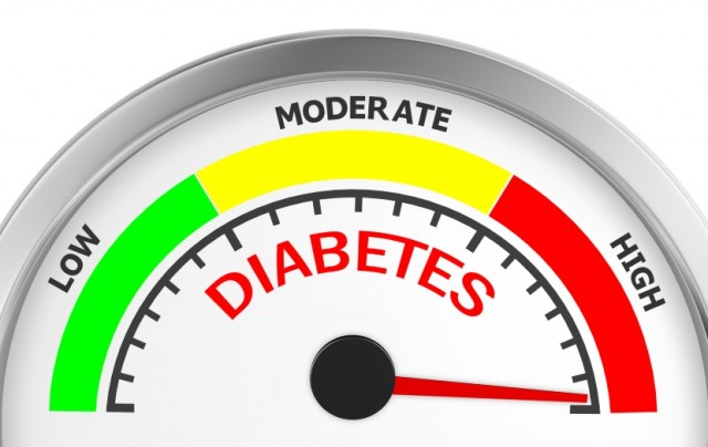 Diabetes Gauge in High Zone