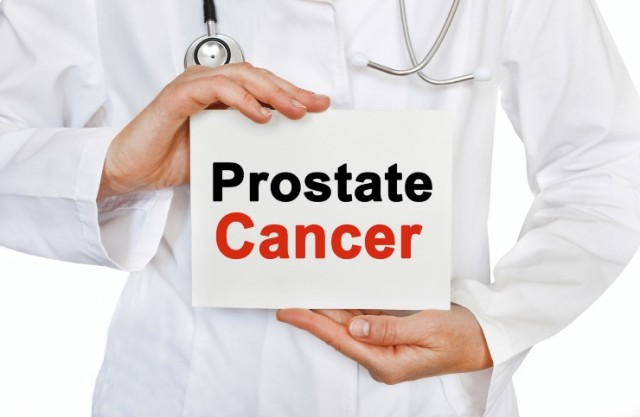 Prostate Cancer Sign in Doctors Hands